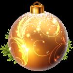 Шар новогодний Золотой